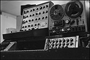 Synth rig, probably belonging to Here And Now, Butts SU Free Gig, 1979
