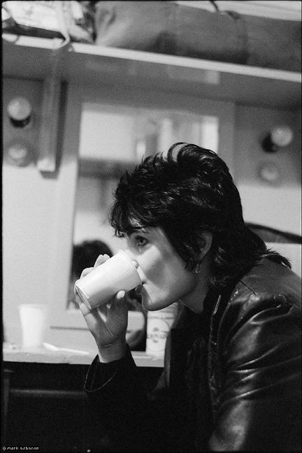 Siouxsie Sioux backstage, Birmingham Odeon, 1979