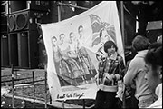 John Yeadon banner, Coventry Carnival Against Racism, Hearsall Common, April 28th, 1979