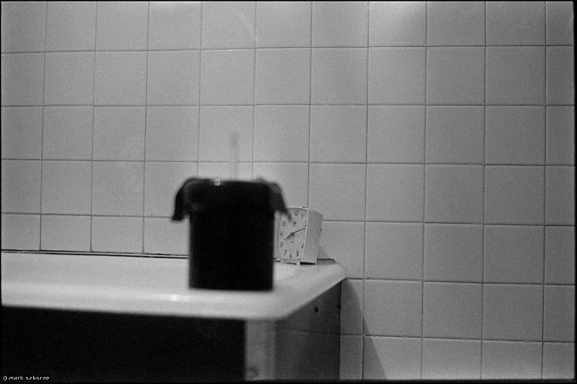 Dev tank in bathroom