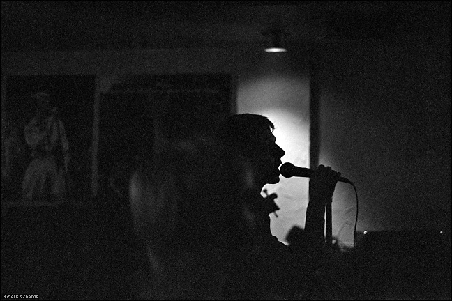 In silhouette: the late Dave Wankling Urge vocalist, Zodiac 1979