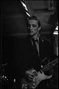 Dave Gedney not sure which band, Matrix Hall festival, October 1979