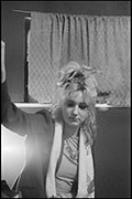 Viv Albertine, backstage, Coventry Theatre, 21st September 1979