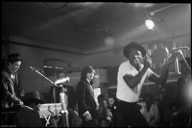 Bouncer in motion across the stage, The Specials, Butts SU Building, 1979