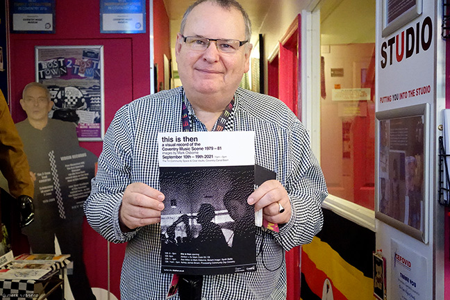 Pete Chambers, Cov Music Champion, at the Coventry Music Museum